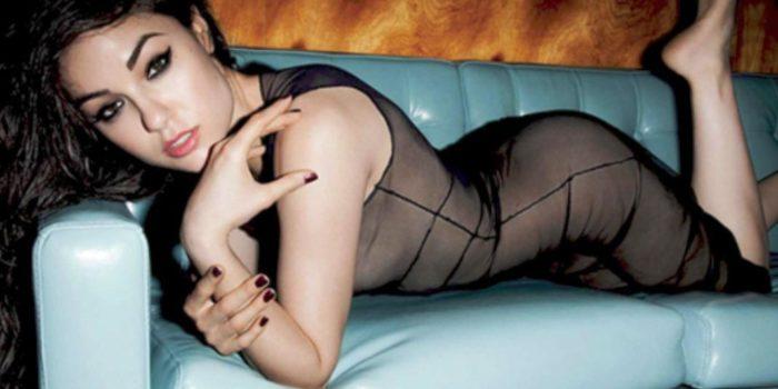 La plus belle actrice de films pour adultes
